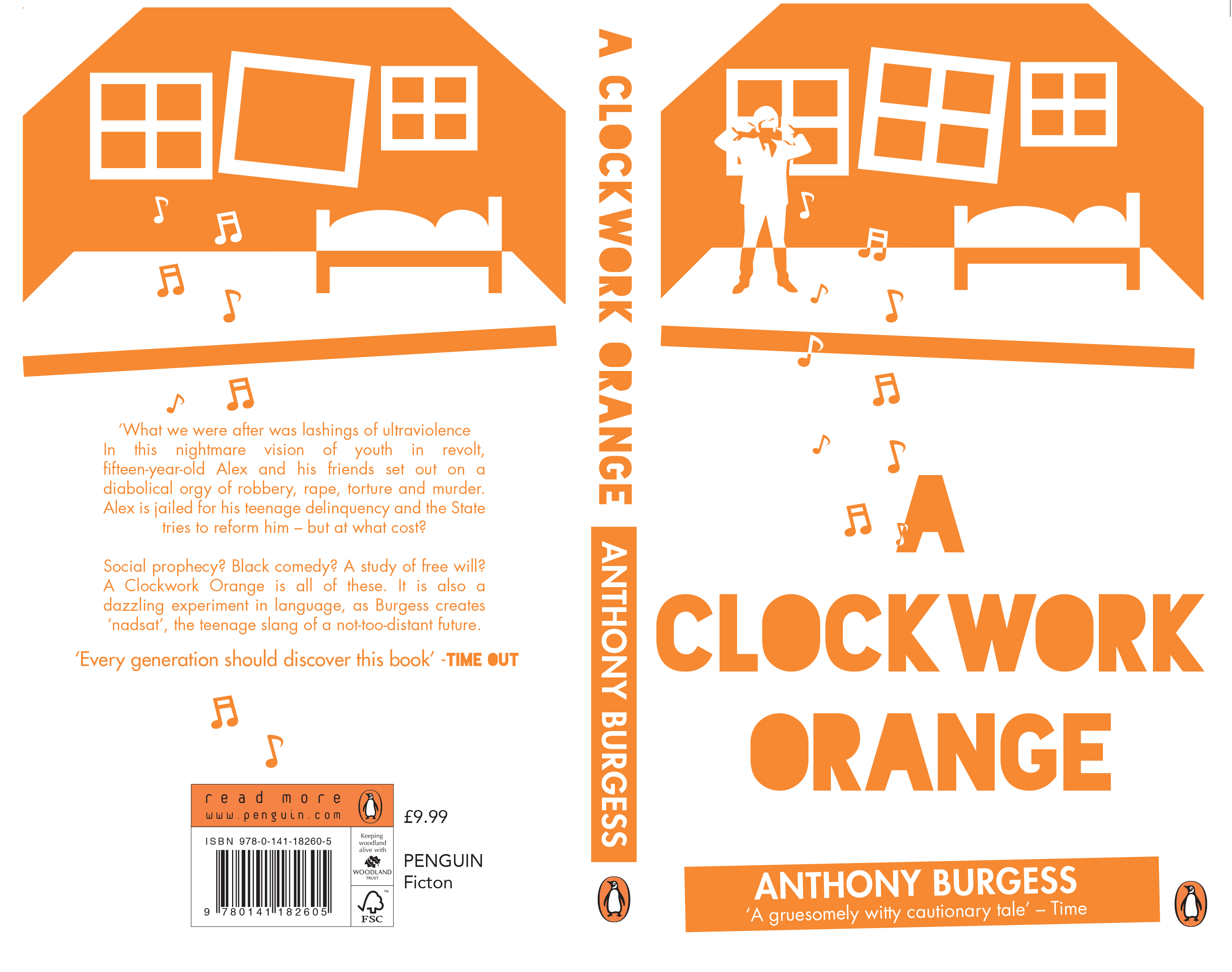 A clockwork orange penguin design award submission danielle cover for a clockwork orange in which i focused on part of the book where alex the main protagonist is tortured by the music he is accidentally conditioned ccuart Images